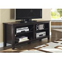 Tv Console Table With Adjustable Shelving , Dark Wood Tv Cabinet 16 X 58 X 24 Inches