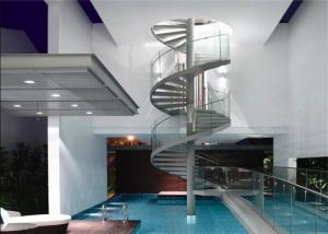 China Modern Residential Space Saving Spiral Staircase , Loft Spiral Staircase No Welding on sale