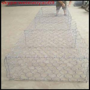 China welded stone gabion mesh /zinc aluminum stone cage wire mesh/6*8cm gabion box mesh on sale