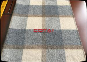 China Wholesale 60 Wool 900G/M Double Sided 8CM Tartan / Plaid Fabric With Gray Twill Inside Coating Wool Fabric on sale