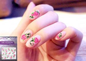 China Safe OEM Beauty non toxic 2D Nail Art Sticker, Decals For DIY Nail Decoration on sale
