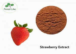 China Natural Strawberry Extract Powder 30% Polyphenols Red Food Grade on sale