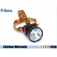 China Waterproof IP68 Rechargeable LED Miner Headlamp , 8W Coal Miners Headlamp on sale