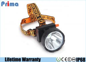 China Waterproof IP68 Rechargeable LED Miner Headlamp , 8W Coal Miners Headlamp on sale