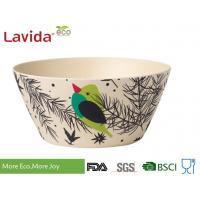 Free Heavy Metals Eco Bamboo Fiber Bowls 5.5 Inch With Unique Rustic Texture