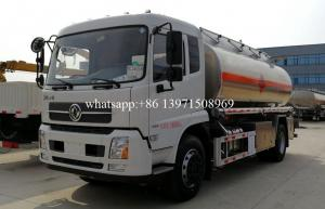 China 15000 Liters Water Bowser Truck Stainless Steel / Aluminum Alloy Tanker on sale