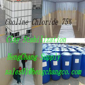 China Холин хлорид75%/Choline Chloride liquid/shale stabilizers used as drilling fluid additive on sale