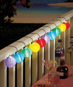 China 3m Color Solar Mini Lanterns String Lights - Cool White Solar Powered 10LED colorful hanging decoration on sale