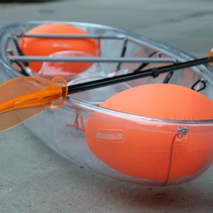 China Summer Time Glass Bottom Kayak , 3300 X 850 X 300mm Sit On Top Touring Kayak on sale