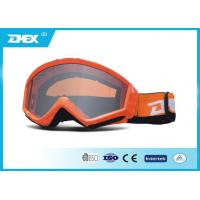 China Transparent Lens Shinny Orange Frame clear Motorcycle Goggles MX Glasses on sale