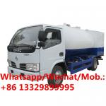 New dongfeng 5000L propane delivery 5cbm lpg filling mini mobile gas refueling truck for domestic gas cylinders for sale
