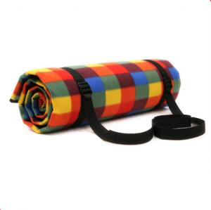 China Colorful Plaid Picnic Blanket Soft Surface PEVA Back For Children's Playing on sale