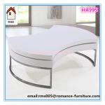 MDF with white high gloss finishing steel frame with chromed HA995