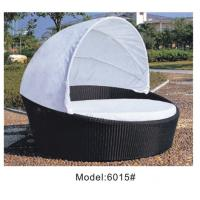 Outdoor rattan wicker daybed with canopy  ---6015