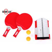 Plastic Portable Table Tennis Set With Thick Smooth Side Paddles 410g Weight