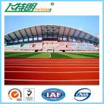Recycled Synthetic Rubber Flooring Running Track Surface Material Non - Toxic