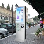Advertising Public Coin Operated Multi Cell Phone Charging Kiosk With Safe Lock Box