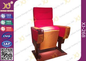 China Modern Folded Commercial Auditorium Chairs With Strong Steel Structural Single Leg on sale