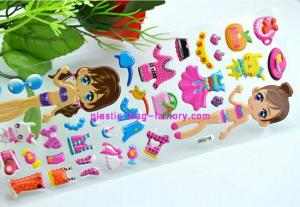China Girls EVA 3D sponge foam custom puffy stickers for scrapbook / windows / wall on sale