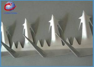 China Stainless Steel Hot Dipped Galvanized Wall Security Spikes For Construction on sale