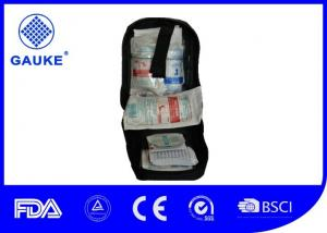 China Black Emergency Car Kit Basic First Aid Equipment With Wound Compress on sale