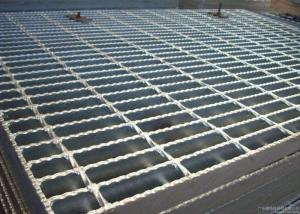 China ISO9001 Serrated Steel Grating For Flooring Customized Cross Bar Spacing on sale