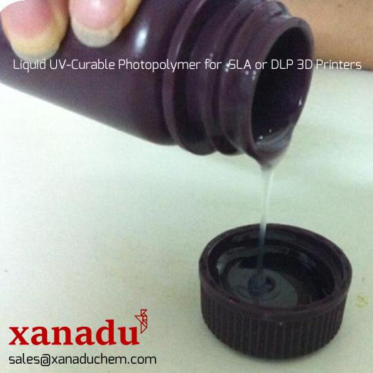 Liquid UV-Curable Photopolymer Resins for SLA or DLP 3D