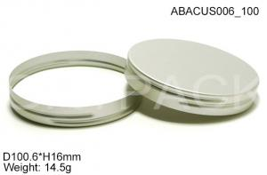 China H16mm Aluminum Screw Caps Pink / Silver For Cosmetics , Alu Screwcaps on sale