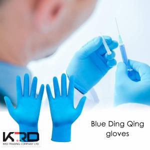 China Safety Hand Latex Gloves, Powder-free Medical Surgical Disposable Blue Rubber Mechanic Nitrile Gloves on sale