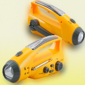 China multi-purpose solar torch with alarm & charger & radio & hand crank on sale