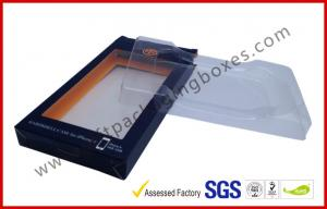 China Coated Paper Card Board Packaging , Spot UV Blister / Plastic Tray Packing for Iphone Cases on sale