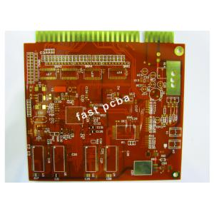 China Red Solder Mask 4 Layers FR - 4 1.6mm Gold Finger Multilayer PCB for Amplifiers on sale