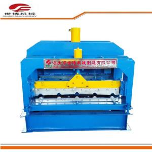 China Roof tile machine Glazed tile roll forming machine With Hydraulic Cutter on sale