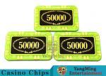 Anti - Counterfeiting Crystal Poker Chips / Rectangular Poker Chips For Casino