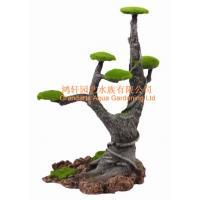 China PX551 Imitation pine Resin aquarium ornament moss tree 21x16x26cm on sale