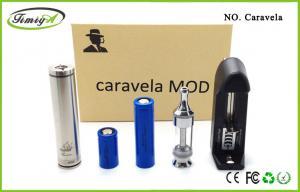 China stainless / golden E Cigarette Starter Kits Mechanical Mod Caravela For 18500 /18650 Battery on sale