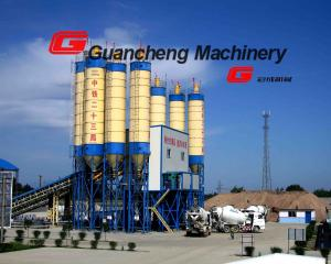 China 1000L Discharging Volume Concrete Batching Plant Control Panel 60 m3/H Mixing Plant on sale