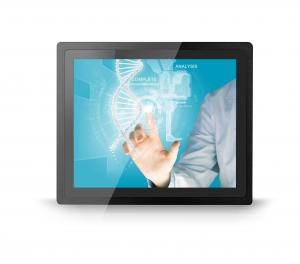 China 15'' Industrial Touch Screen Monitor Panel / Embedded Mount With 10 Multi Touch Points on sale