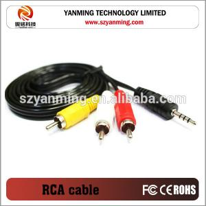 China 3.5mm 3 RCA To Component Adapter Cable 6ft on sale