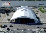 Large Clear Span Aluminum And PVC Sport Event Tents Polygon Frame Structure