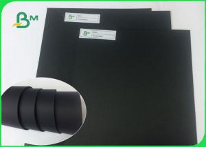 China Shiny Black Paper / 1mm Black Cardboard Paper Sheet For Packaging on sale