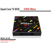 Wholesale factory price android 7.1 smart tv box H96 MAX H2 RK3328 4 core 4G 64G Dual WIFI KD player