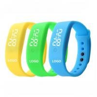 Promotional LED silicone watch Silicone logo customized colorful