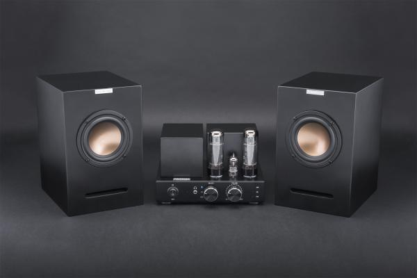 Hifi Vacuum Tube Bluetooth Amplifier With 4 Speaker Units Bookshelf Speakers Images