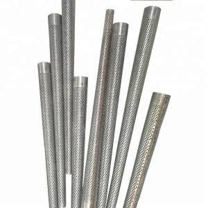China 0.35-0.5 Mm Thickness Perforated Stainless Steel Tubing  , Stainless Steel Pipe Filter on sale