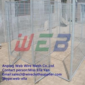 China welded large dog kennel/dog cage/dog run on sale