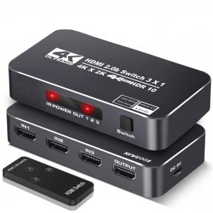 China HDR 3 Ports 18Gbps 4K 60Hz HDMI Switch Box on sale