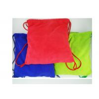 Multi purpose Microfiber Drawstring Beach Towel Bag , Colorful Folding Beach Towel Bag