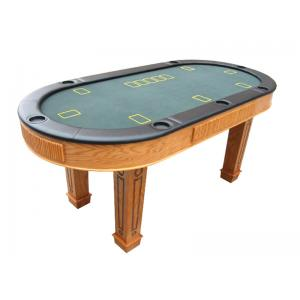 China Modern Poker Game Table MDF Durable Card Playing Table With Cup Holder on sale