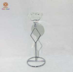 China Pedestal One head unique Wedding Decorative Candle Holders Of metal frame on sale